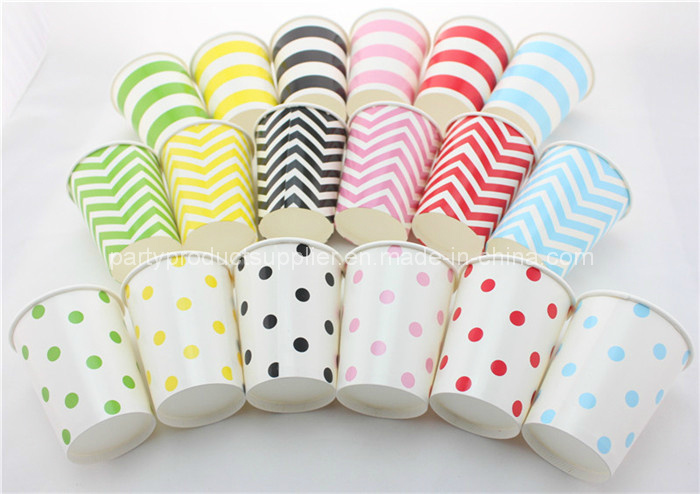 Party Products Stripe Polka DOT Chevron Paper Cups