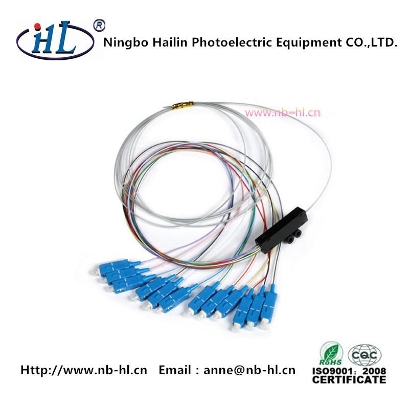 12 Cores SC/PC Singlemode 9/125 Fiber Optic Pigtail