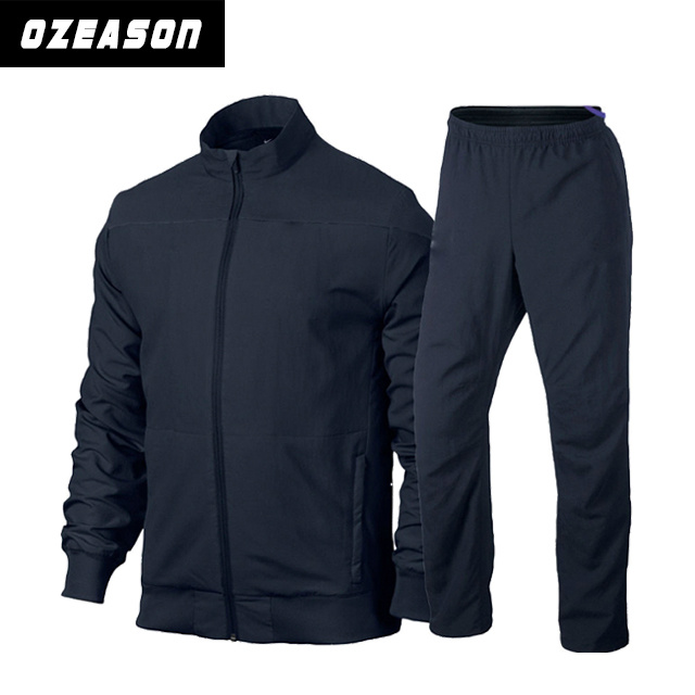 OEM Wholesale Plain Blank Men′s Sport Running / Jogging Suit (TJ014)