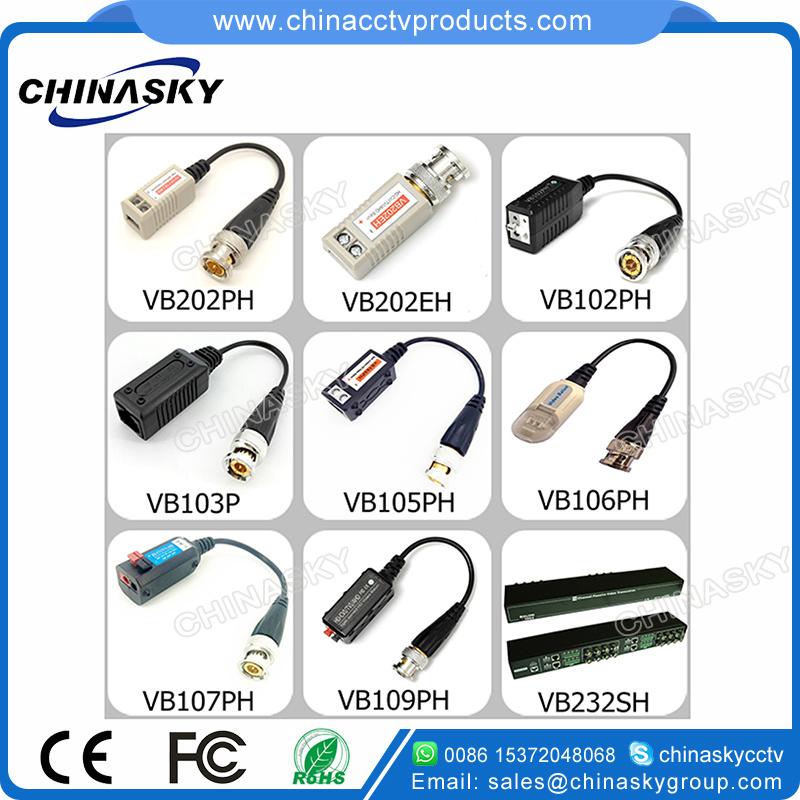 Combinable HD-Cvi/Tvi/Ahd Passive CCTV UTP BNC Video Balun (VB109pH)