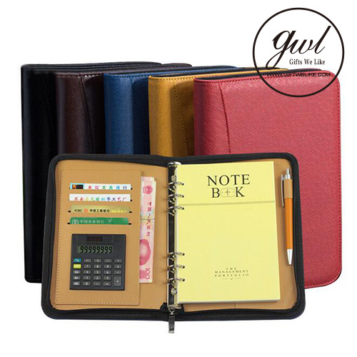2018 Personalized Business Leather File Folder and Padfolio Portfolio Binder for Gift