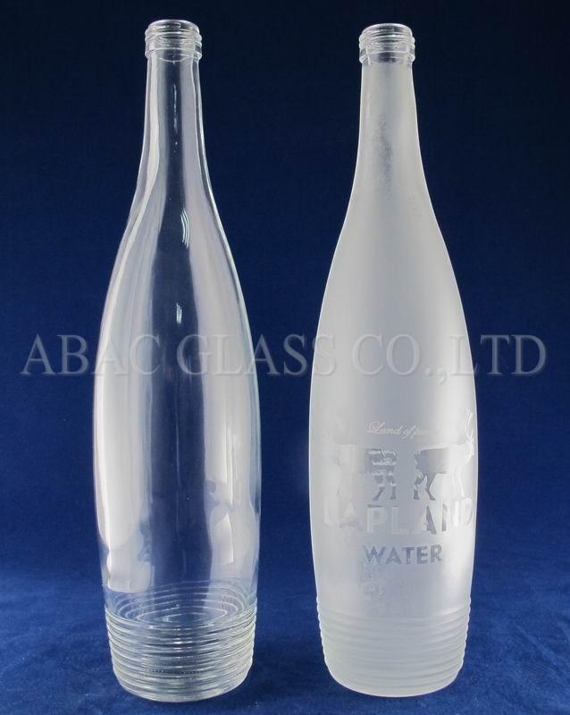 50ml/500ml/750ml/1000ml Clear Water Glass Bottle