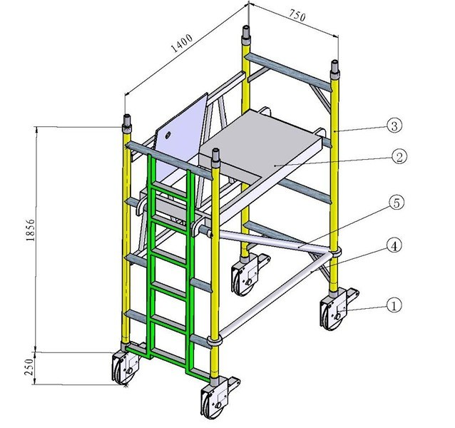 Aluminum Scaffolding Suppliers : China aluminium mobile scaffold wpk