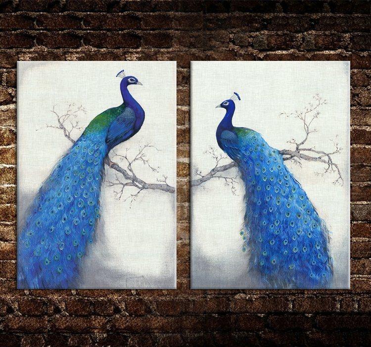 Custom Peacock Canvas Photo Prints / Canvas Art and Wall Art / Banksy Art Canvas Prints