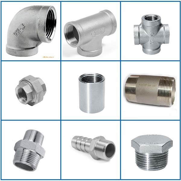 China stainless steel pipe fittings threaded welded