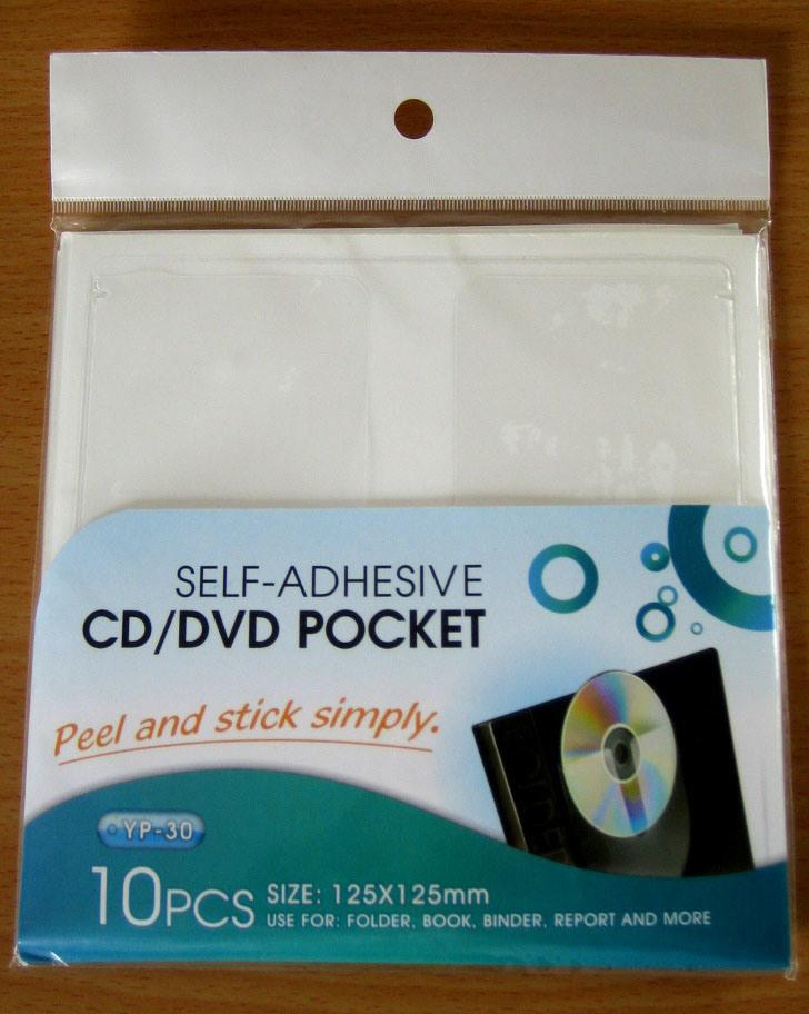 Self-Adhesive CD /DVD Pockets-semicircle (YP-30)
