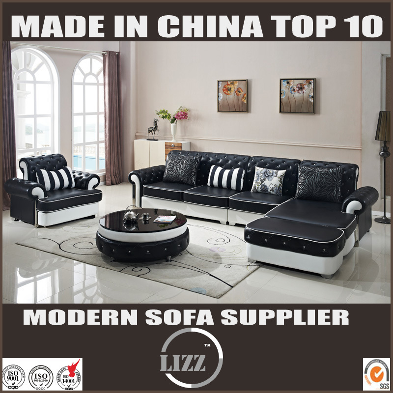 Europe Design Living Room Pure Leather Sofa Furniture (LZ-069)