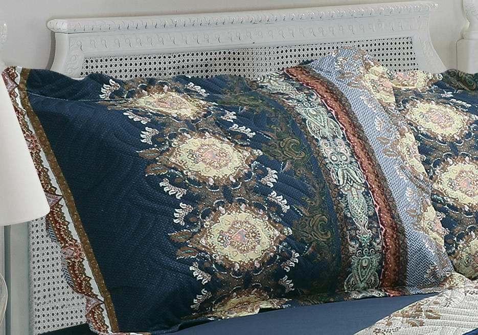Printed Ultrasonic 100% Microfiber Fabric Quilt/Bedding Set