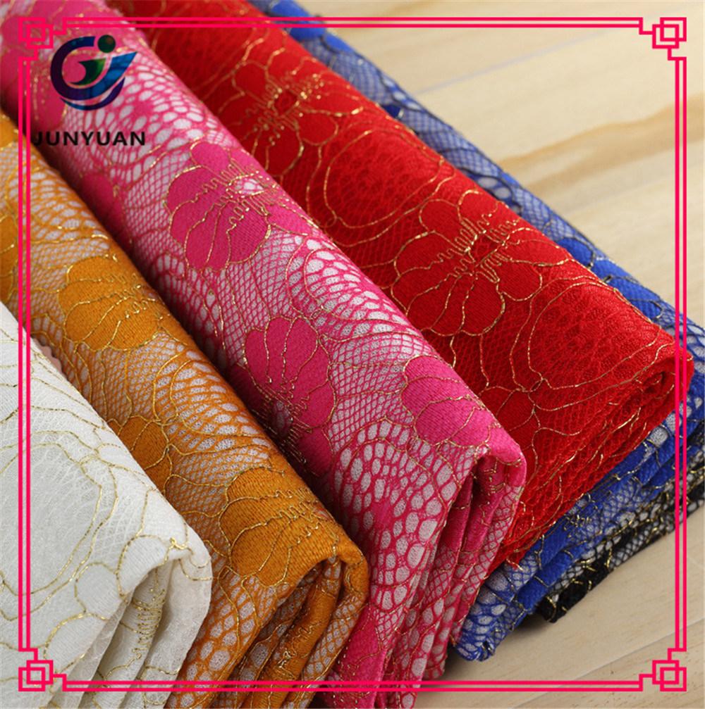 Cotton Nylon Gauze Dress Lace Fabric Wholesale