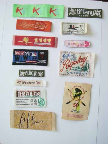 Factory Customized Brand Mark Garment Label, Woven Label