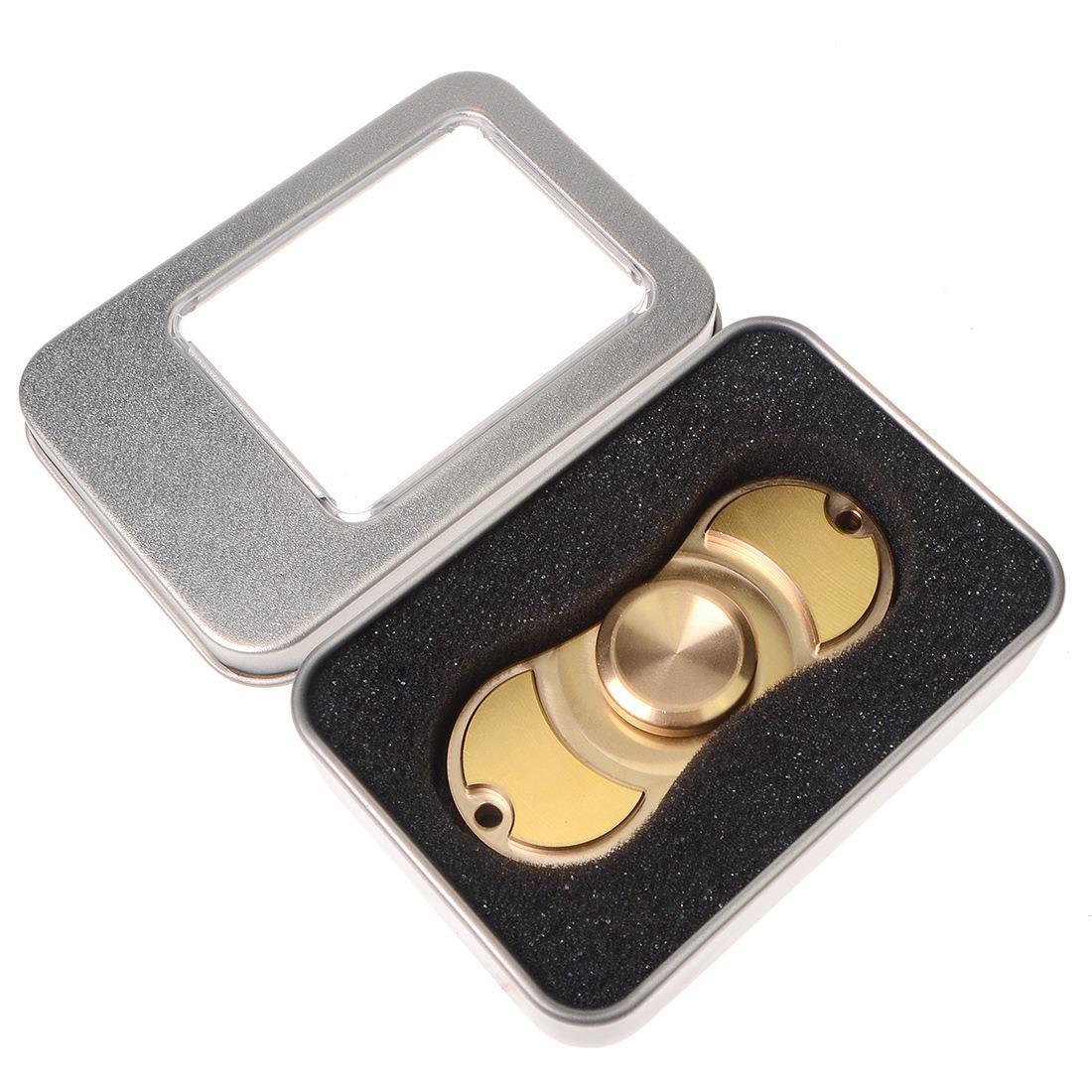 Pure Brass Fidget Toy Over 4 Mins Hand Finger Spinner