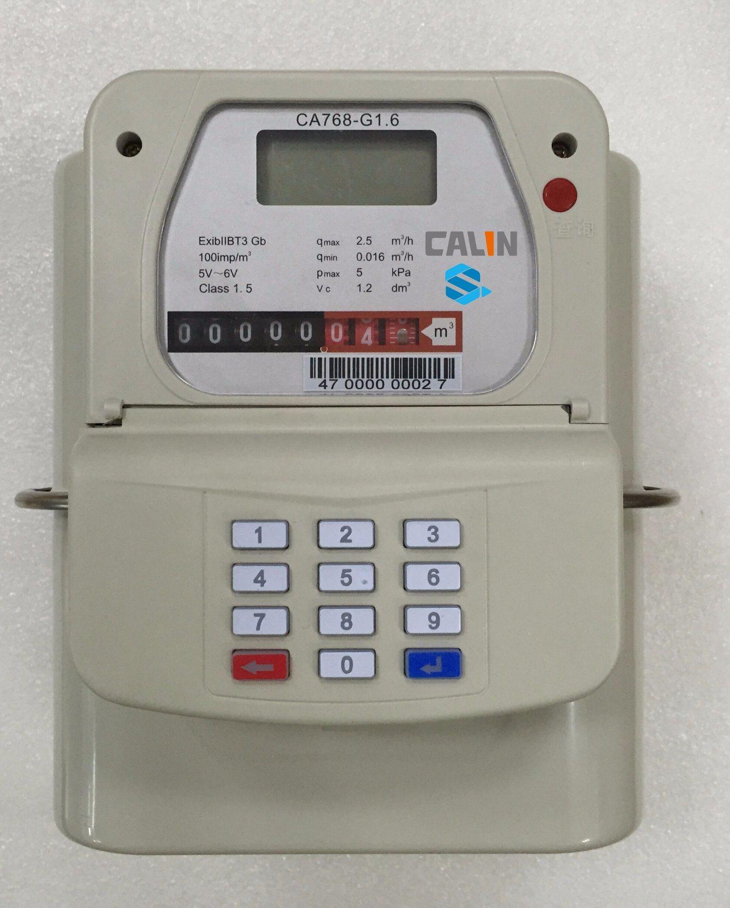 Sts Steel Material Smart Keypad Prepaid Gas Meter