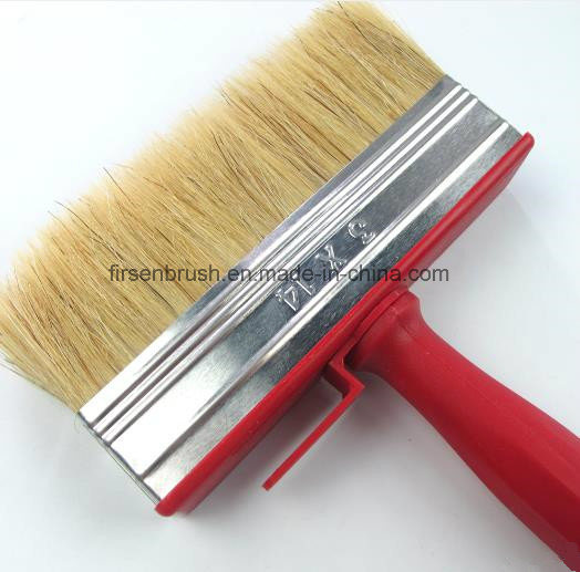 Professional Natural Bristle Red Plastic Handle Paint Brush Cleaning Ceiling Block Brush