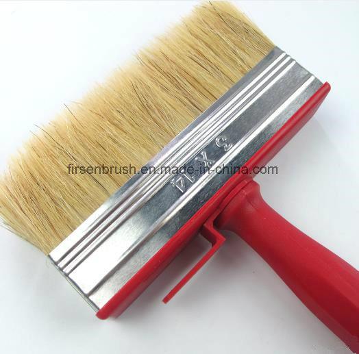 Professional Natural Bristle Red Plastic Handle Paint Brush Cleaning Ceiling Block Brush
