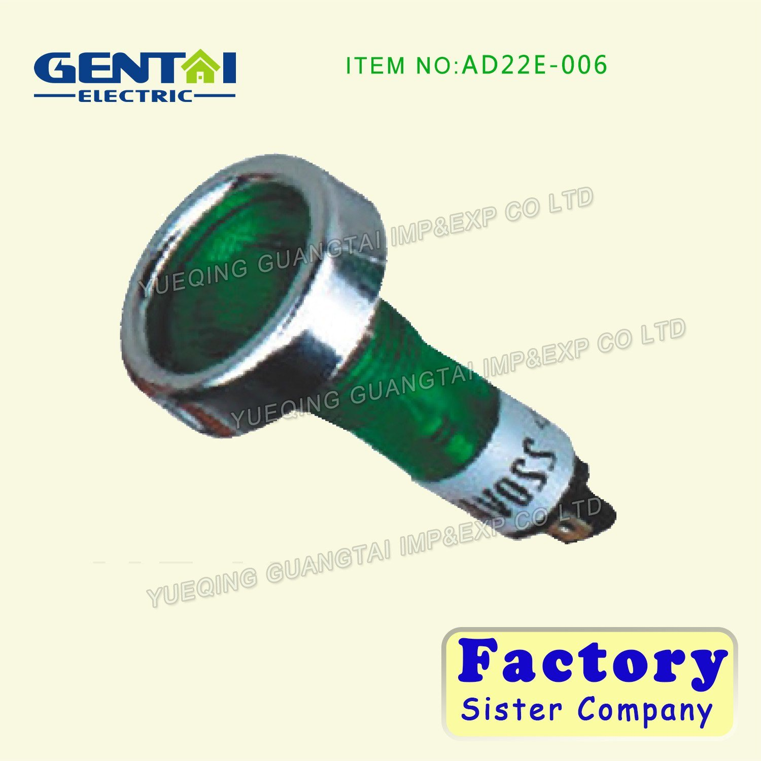 Green or Red Ad22e-006 Neon Indicator