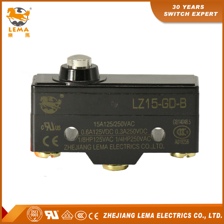 Lema UL Approved Lz15-Gd-B Mechanical Short Plunger Micro Switch