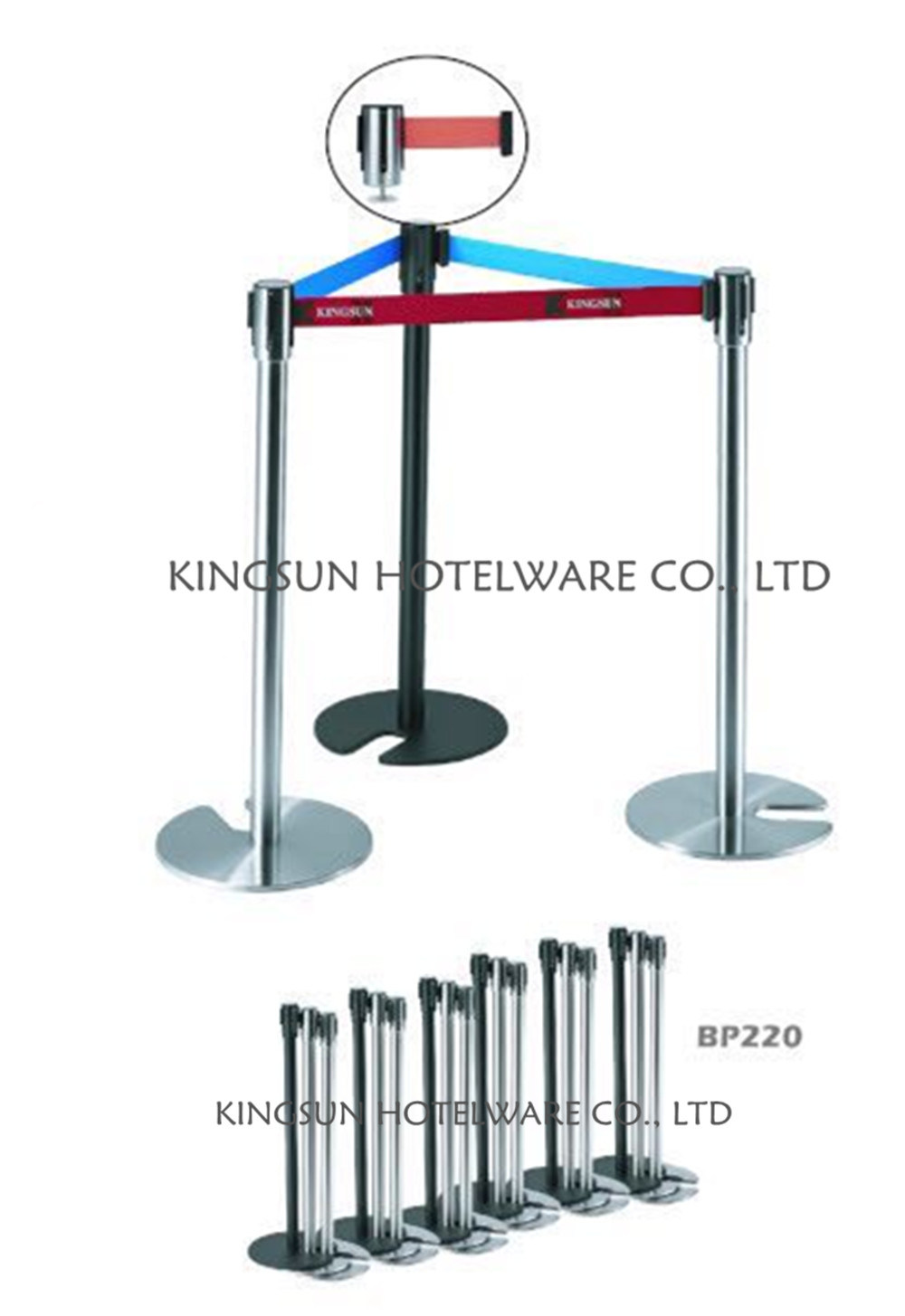 Stackable Iron Barrier Stanchions