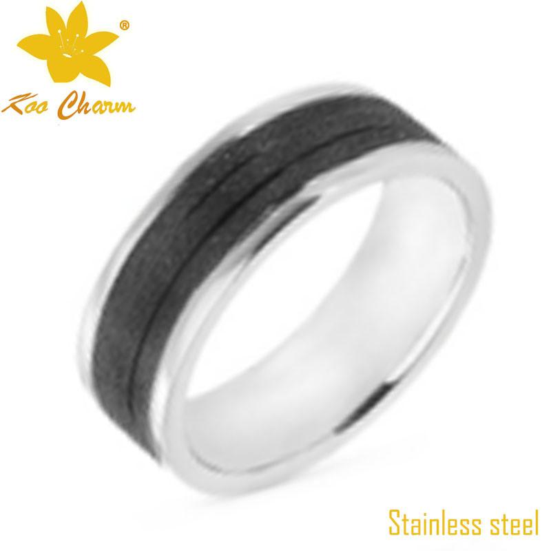 Str-010 CNC Black Stainless Steel Diamond Rings