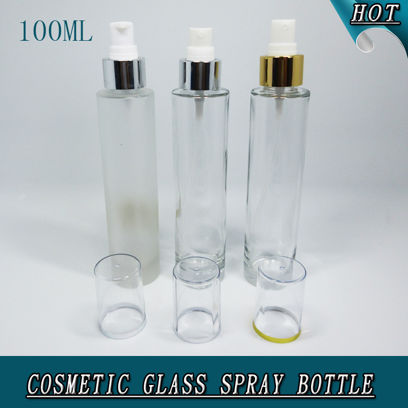 100ml Cylinder Slim Clear Cosmetic Perfume Glass Spray Bottle