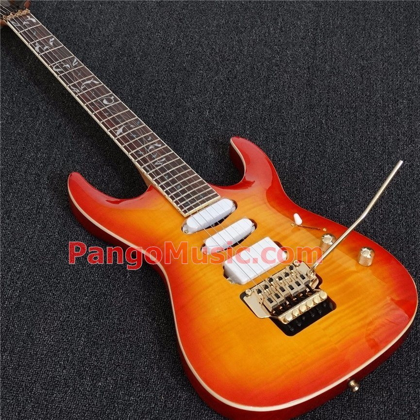 Pango Music Mk Style Electric Guitar with Flamed Maple Top (PMK-002)