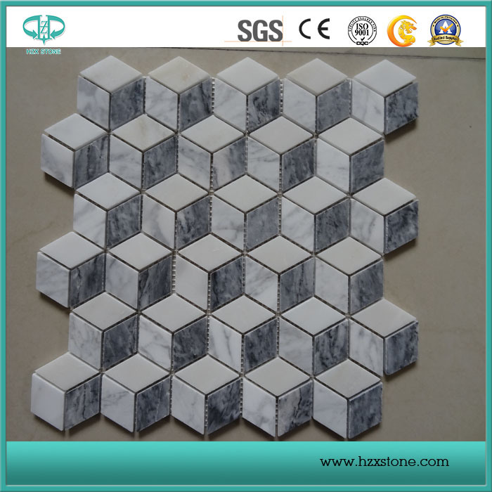 Mosaic Stone Tiles Natural Marble, Mosaic Tile Carrara White Marble Staturary White Marble