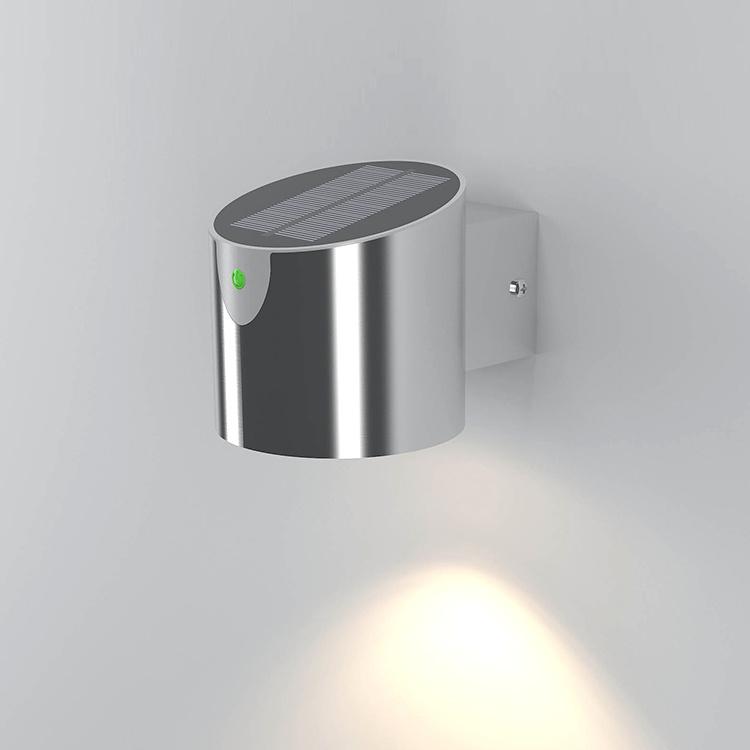 Solar LED Ss Garden Wall Light