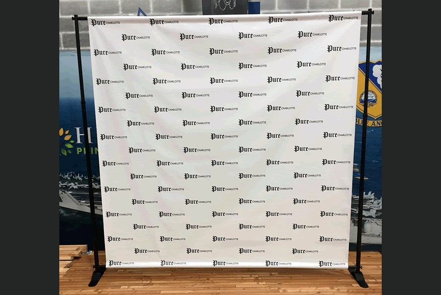 Custom Step & Repeat Stand Backdrop Fabric Banner