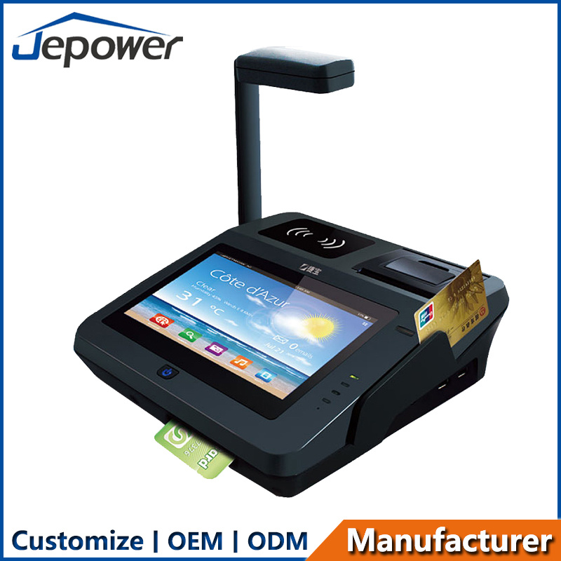 Jp762A EMV Approved 7 Inch Touch Screen All in One Android POS Machine