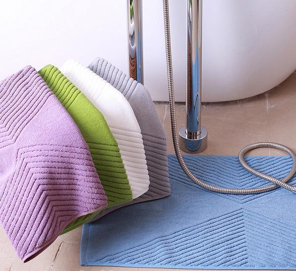 Luxury 100% Cotton Hotel Bathroom Bath Rug