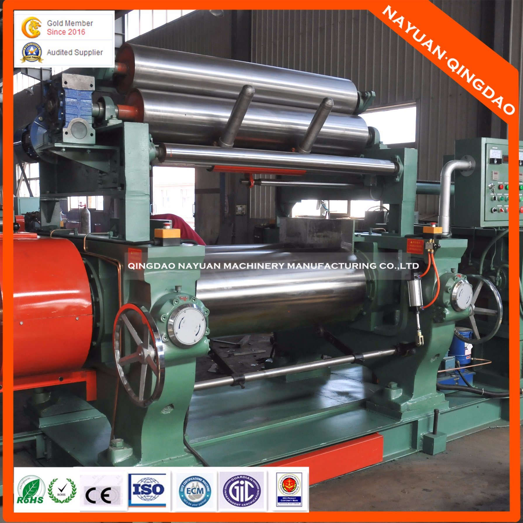 Open Mixing Mill for Rubber Sheet Production Equipment