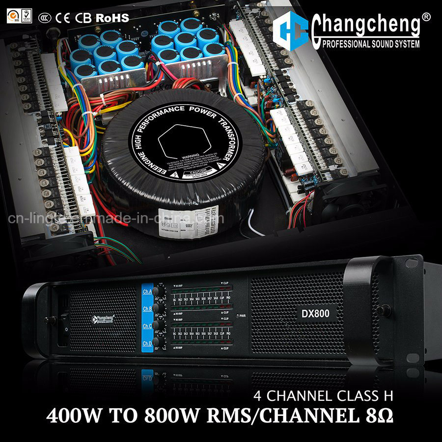 Dx Series 4 Channel Class H Professional Power Amplifier