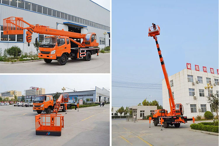 30m Lifting Height Truck Crane with Aerial Platform