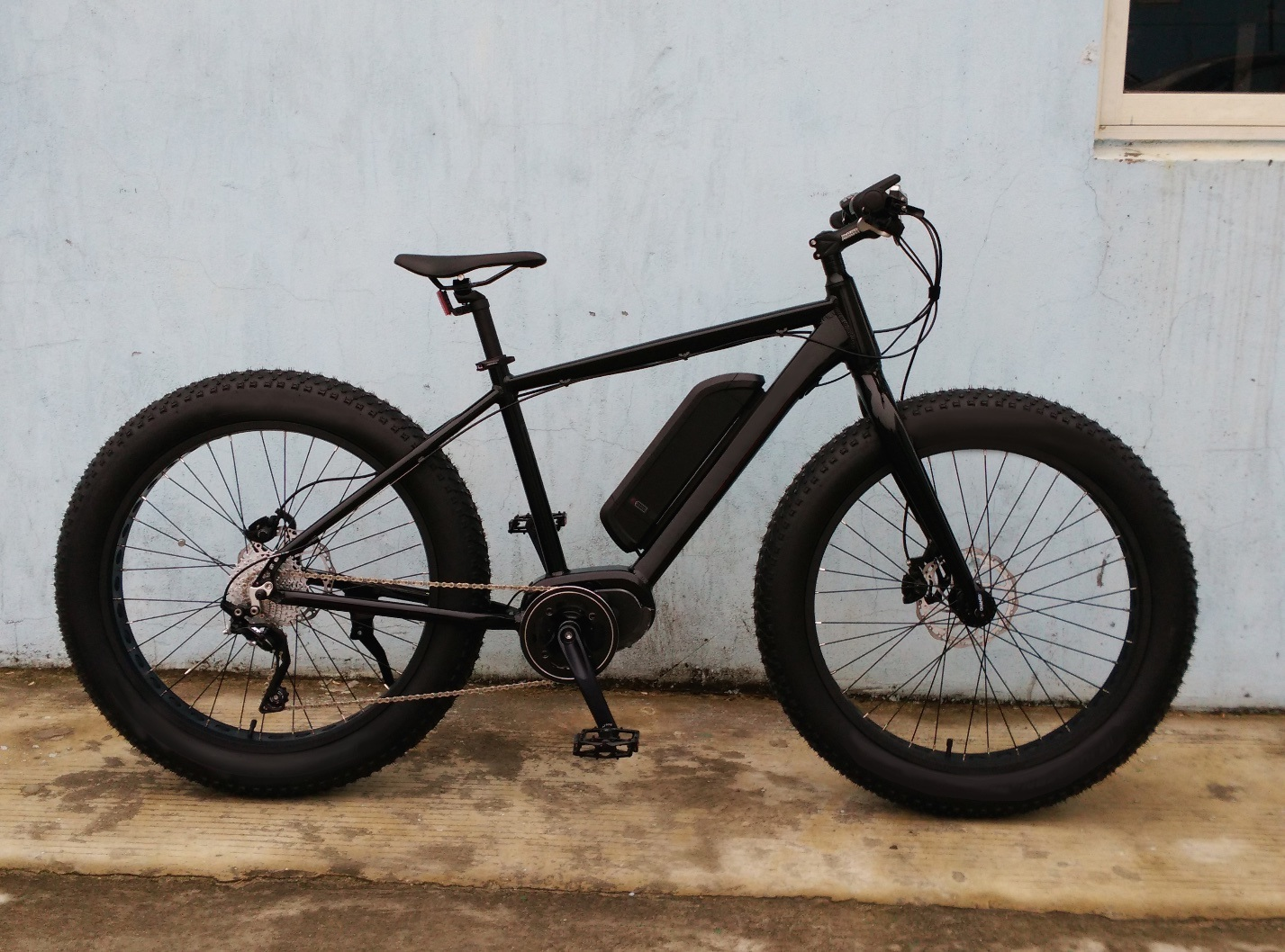 Fat Tire Electric Bike Bicycle with MID-Motor Torque Sensor