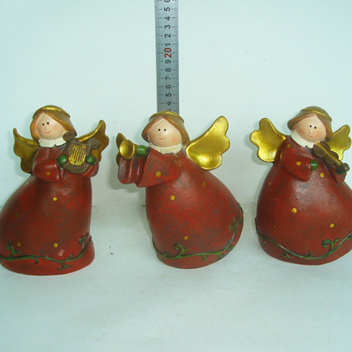 Wholesale Lovely Garden Ornaments Resin Angel Figurines for Home