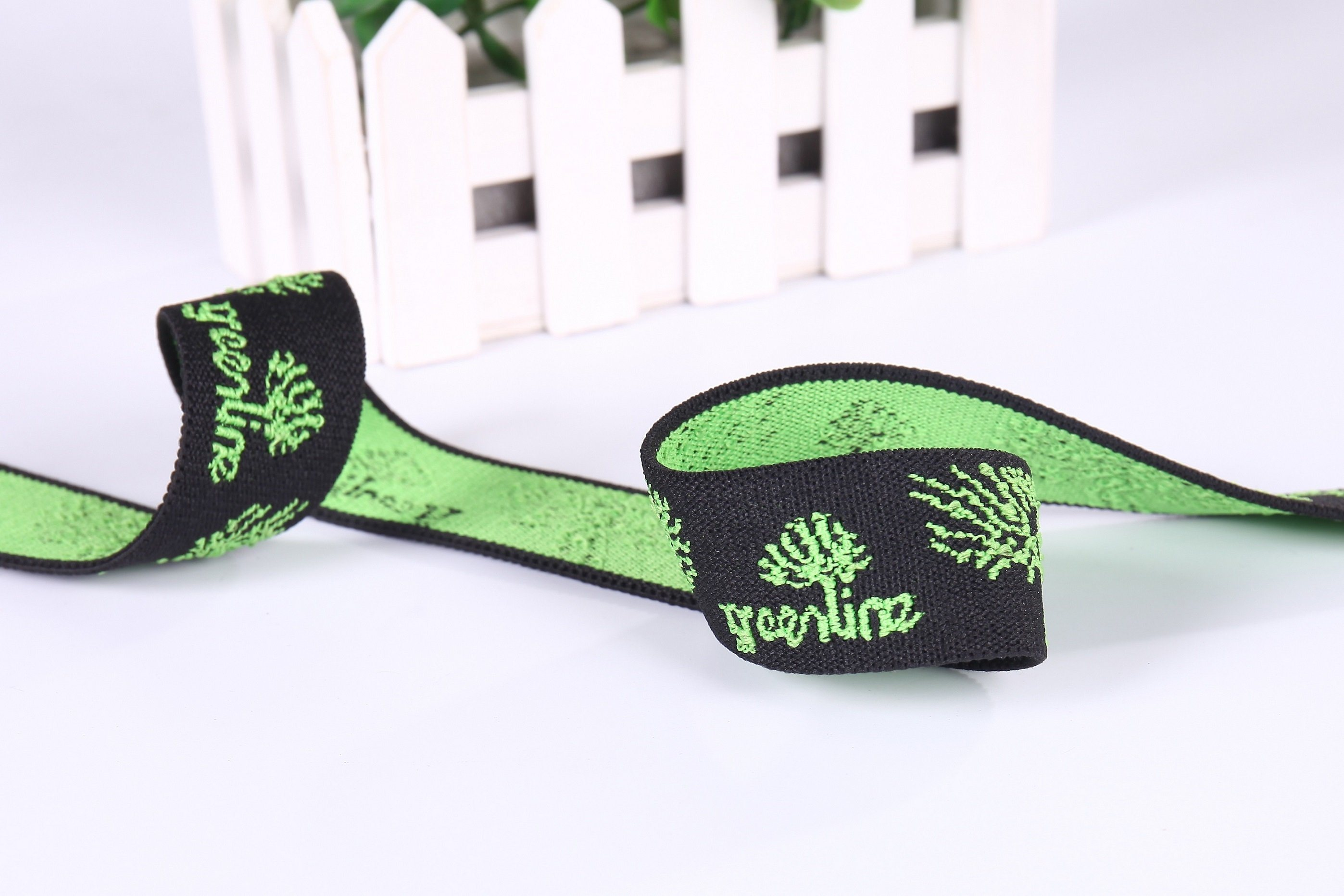 Nylon Customize Knitting Elastic Band Jacquard Webbing for Handbag