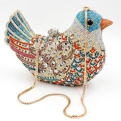 2017 Hotselling Bird Shape Crystal Stone Evening Bags Women Handbag Eb707