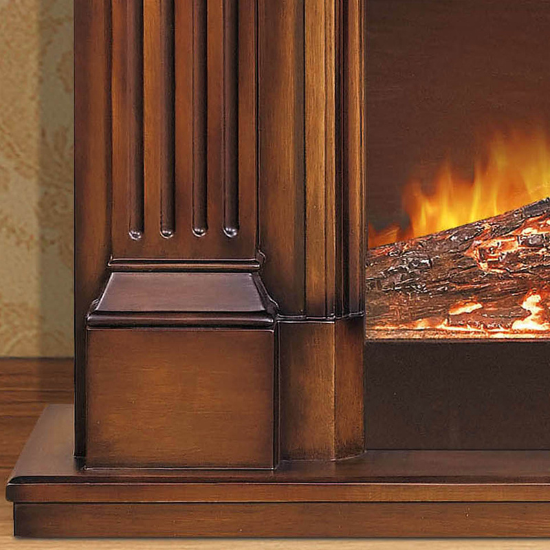 European Style Antique Carved Solid Wood Fireplace Mantel (GSP14-004)