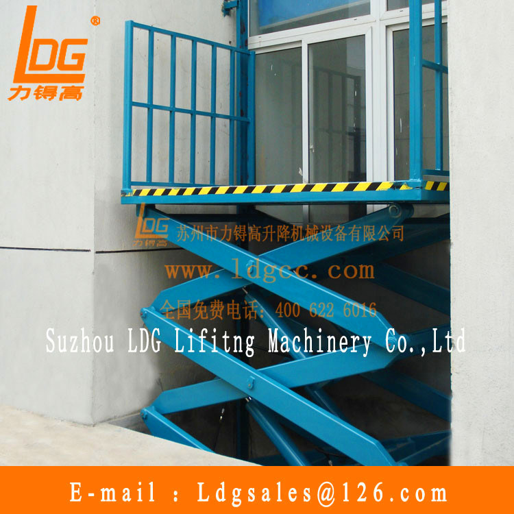 Warehouse Stationary Hydraulic Scissor Cargo Lift (SJG0.5-5)