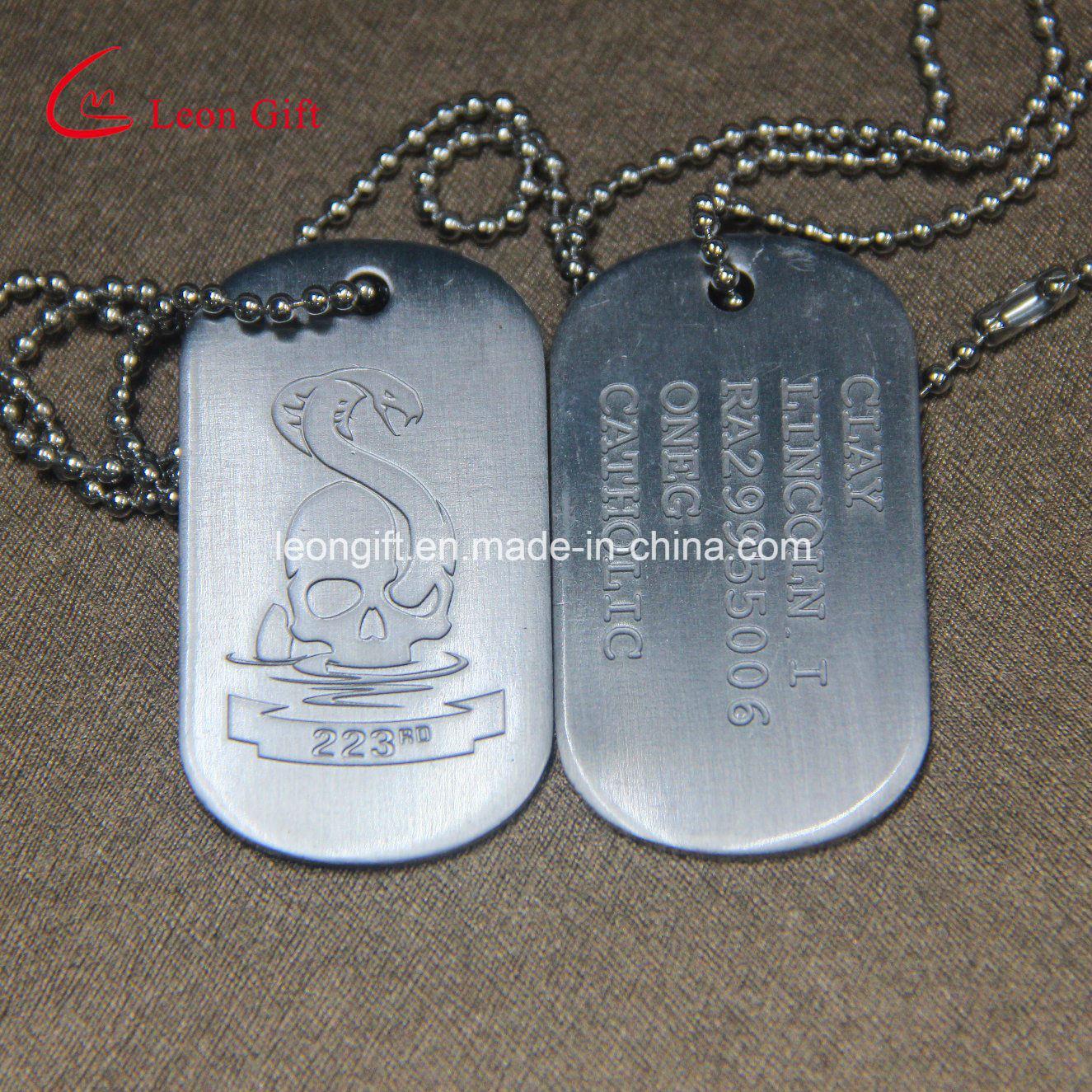 Factory Custom Ball Chain Military Dog Tag