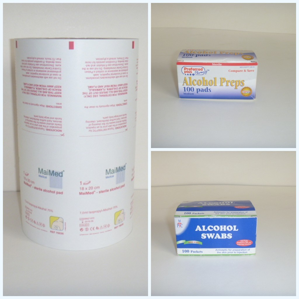 ISO13485 Certificate Aluminum Foil Laminated Paper for Alcohol Swab Wrapping