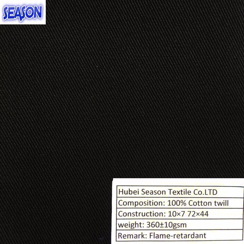 Cotton 10*7 72*44 370GSM Functional Fireproof En11611 En11612 Flame-Retardant Fabric for Protective Clothes Workwear