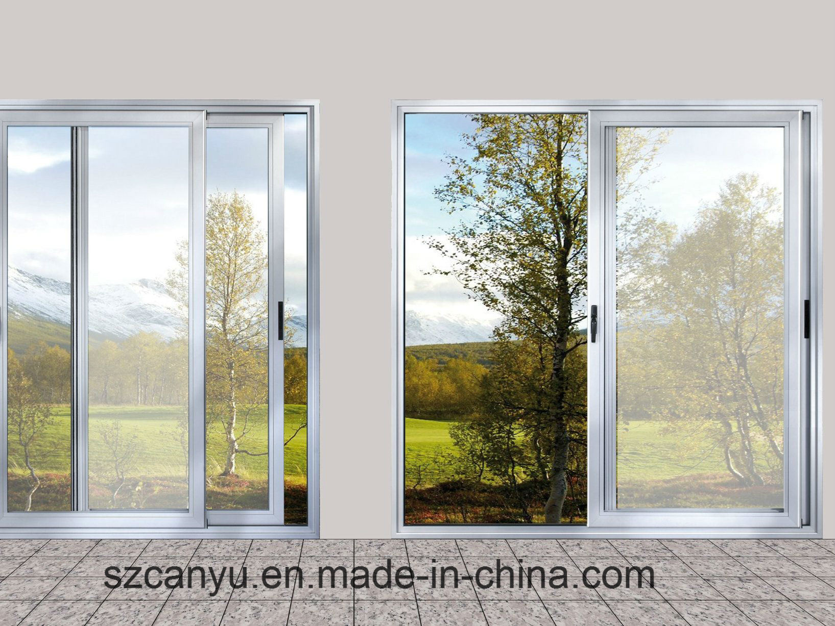 Hot Sale New Design Aluminum Alloy Sliding Window