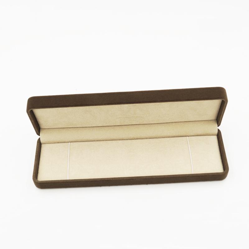 Luxury Golden Stamping PU Leather Plastic Jewel Jewelry Box (J92-DX)