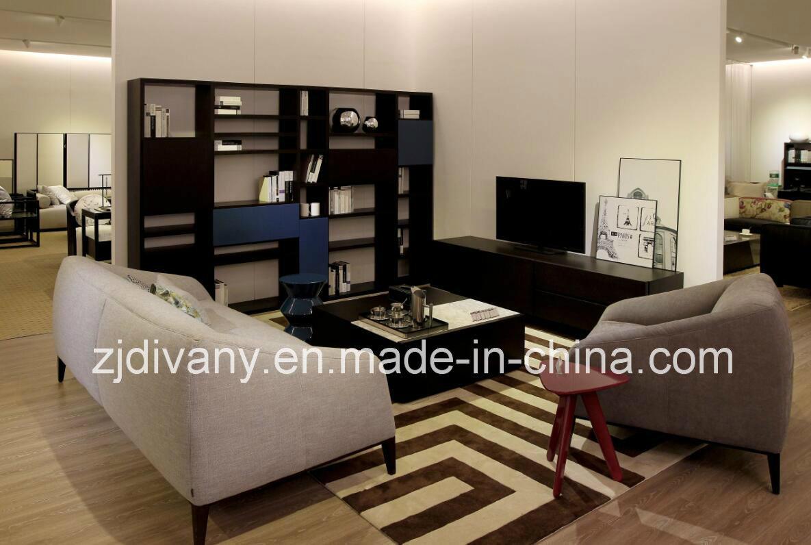 Modern Style Home Leather Sofa Fabric Sofa Furniture (D-76-C)