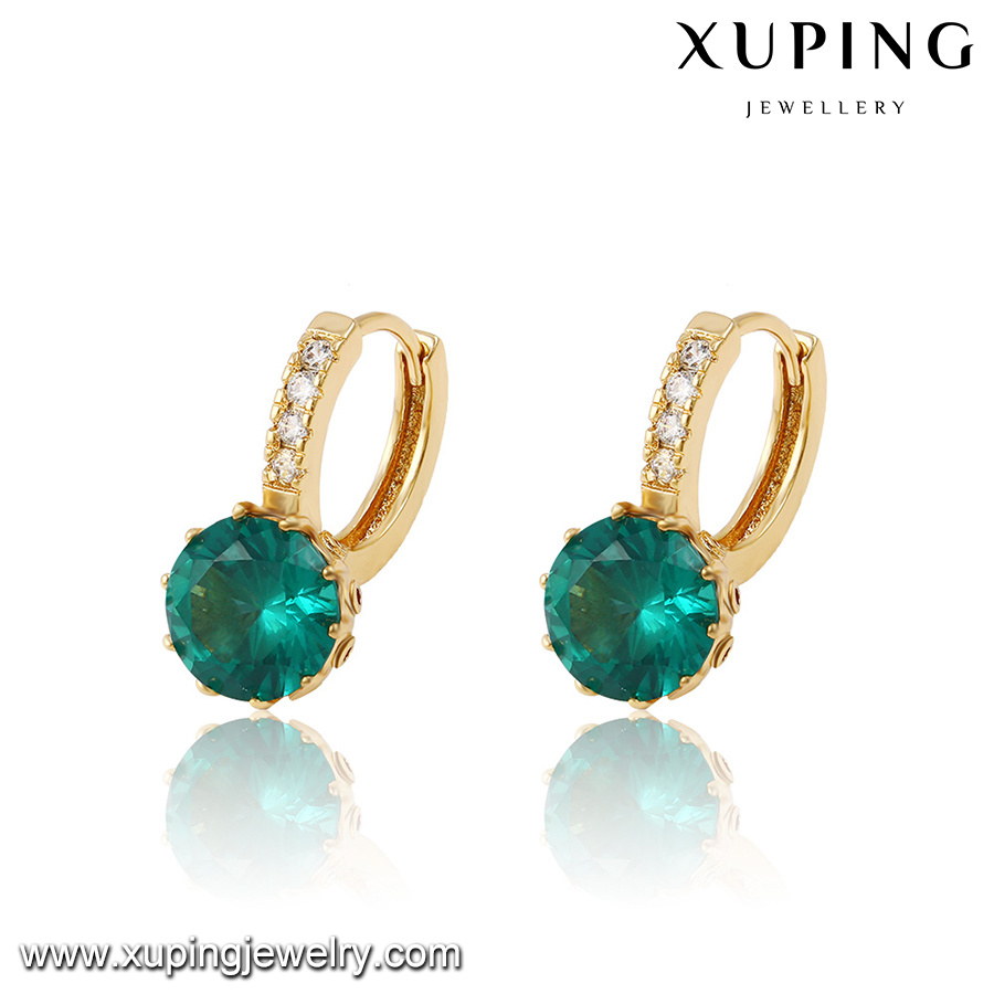 27431 Fashion Hot Sales Diamond Earring Drop in 18k Gold Color