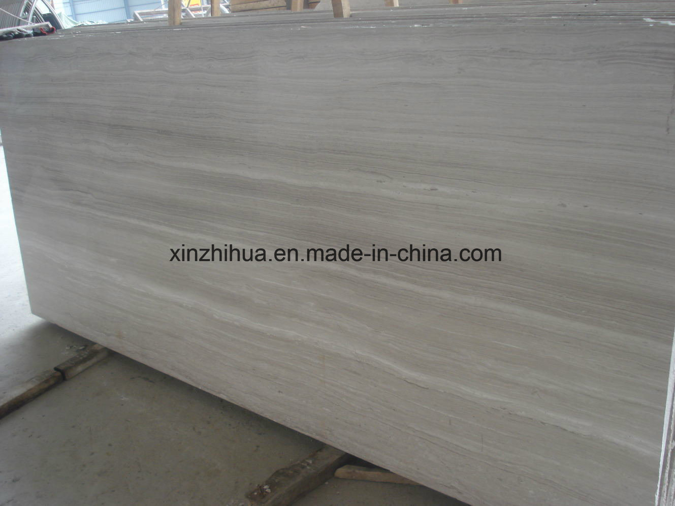 High Quality White Wood Marble, Timber White, Wooden White, Building Material Grain Marble