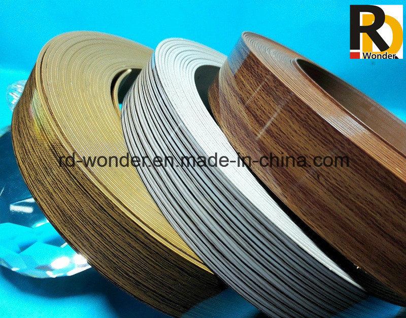 High Glossy Wood Grain Decorated PVC Edge Banding
