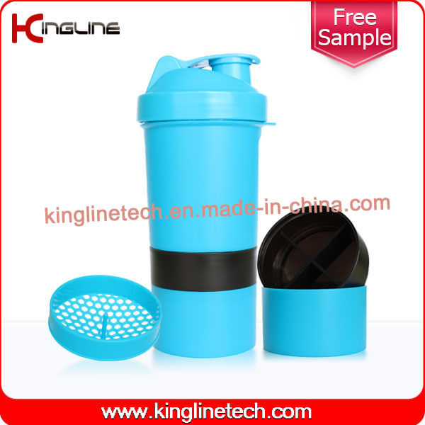 400ml Plastic smart shaker with Pillbox in Container (KL-7003)