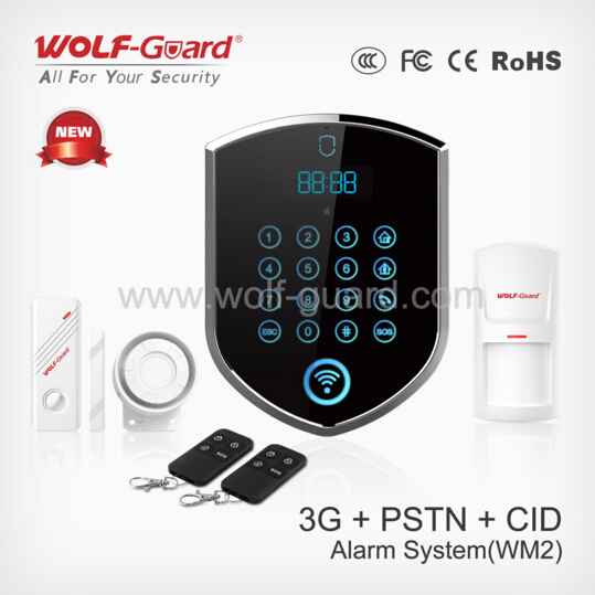 China Factory Wolf-Guard OEM/ODM 3G/GSM+PSTN Alarm System with Best Price Security Alarm Systems & Monitoring for Home and Business