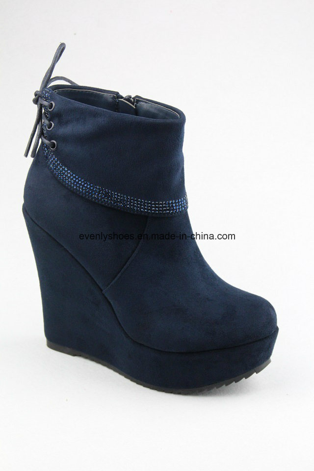 New Sexy Wedge Shoes Lady High Heel Boots for Fashion
